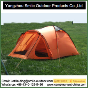 4 Person Custom Rainfly Polyester Waterproof Camping Windbreak Tent pictures & photos