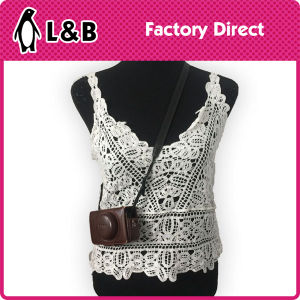 Fashion Design Cotton Women Summer Lace Blouse pictures & photos