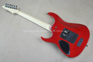 Hanhai Music/Red Electric Guitar with Flame Maple Veneer pictures & photos