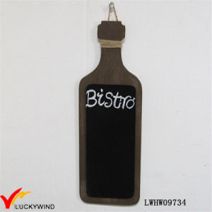 French Vintage Bistro Wine Bottle Shaped Chalkboard pictures & photos