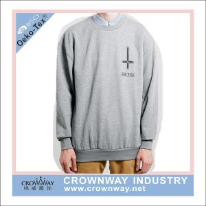 Wholesale Men Oversized Plain Pullover Hoodies with Silk Print pictures & photos