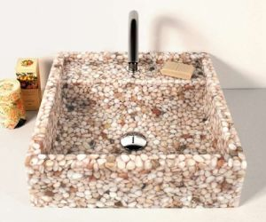 Pebble Stone Washing Basin (ZC-2009) Artificial Stone pictures & photos