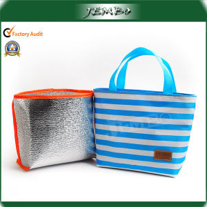 Stripe Polyester Handle Ice Cooler Bag pictures & photos