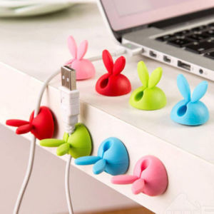 Lovely Rabbit Shape Silicone Viscose Cable Winder pictures & photos