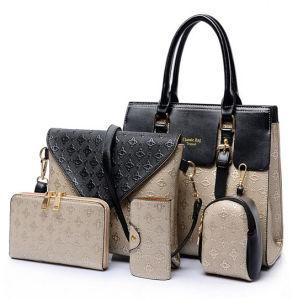 de7972cfb7 China Best-Selling Leather Handbag Set 5PCS Fashion Designer Bags ...