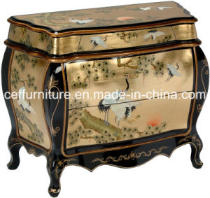 Chinese Classic Oriental Antique Asia Wooden Lacquer Chest Cabinet