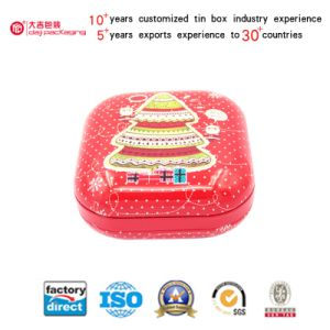 Square Cookies Tin Box for Tea/Chocolate/Candy/Toy/Tea (S001-V10)