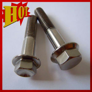 Grade 5 Titanium Flange Head Bolt for Bicycle