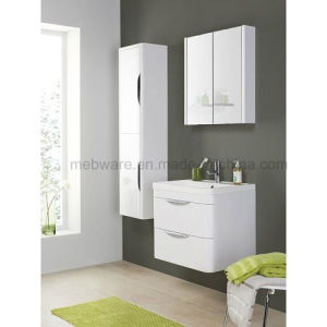 White Bathroom Square Wall Mounted MDF Vanity Unit Sink