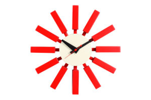 Wood Red Block Wall Clock pictures & photos