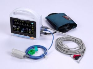 5 Inch Touch Screen 5 Parameter Patient Monitor pictures & photos