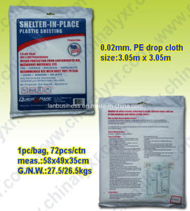 Disposable Waterproof PE Drop Cloth pictures & photos