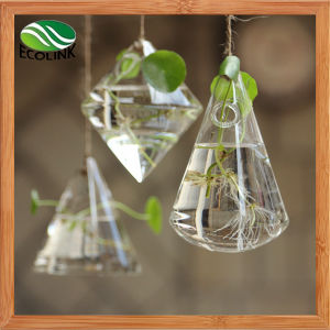 Hanging Crystal Glass Vase Water Flower Vases pictures & photos