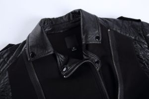 Contrast Color Mens Cotton Terry Jacket with Zipper Placket pictures & photos
