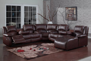China Traditional Air Leather Reclining Corner Sectional ...