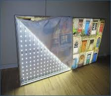 LED Frameless Fabric Light Box Stand Signs