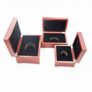 Top Quality Varnished Laser Engraved Wooden Box for Jewelry (J99-M)