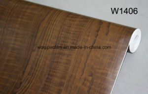 Wholesale Self Adhesive Wood Grain Vinyl Film PVC Wooden Grain Film