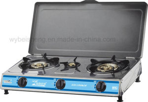 Stainless Steel Gas Cooker, Three Burners with Cover pictures & photos