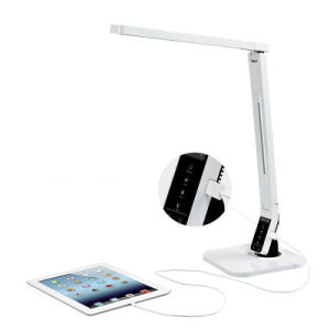 Dimmable Touch Sensor Eye-Care LED Desk Lamp with 2A USB Charging Port