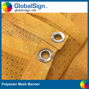 China Manufacturer Printed Graphic Polyester Wind Fence Banner pictures & photos
