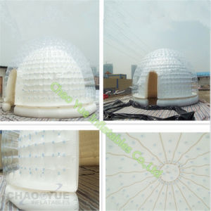 Airtight Clear PVC Inflatable Dome Camping Tent for Outdoor Event pictures & photos