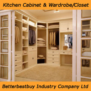 Solid Wood Wardrobe with Metal Case pictures & photos