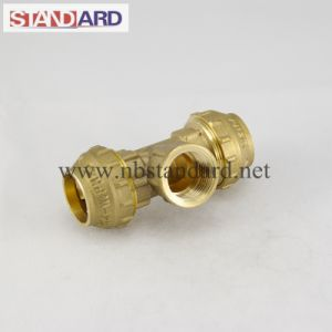Brass PE Fitting with Female Thread Tee