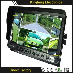 China Kt 9102 9 Inch TFT LCD HD Video Quad DVR Car Monitor Bus Coach