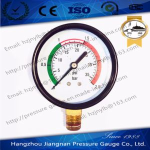 70mm General Air Pressure Gauge with Black Housing pictures & photos