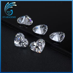 High Quality Excellent Cut Well Polished Heart Shape Cubic Zirconia Stones pictures & photos