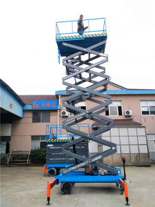 3-18m Mobile Semi Electric Mobile Platform Scissor Lift