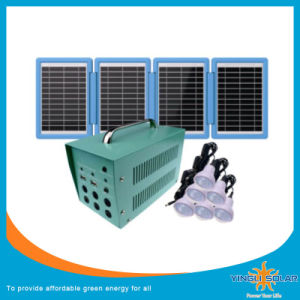 with Solar Panel and LED Lights 20W Small Soalr System pictures & photos