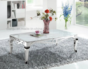 Stainless Steel Square Simple White Silvery Home Furniture Sofa Table (CT8113L)