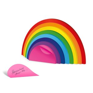 Customized Rainbow Sticky Notes. Assorted Die-Cut Index Tab
