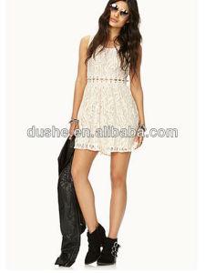 04dc70c39efc03 China Women New Korean Sleeveless White Lace Fashion Dress S139006 ...