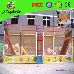Popular Rectangle Trampoline Bed with Basketball pictures & photos