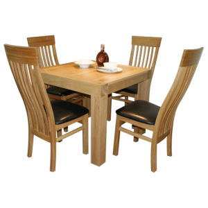 Solid Wood Furniture-Natural Color Dining Table and Chair