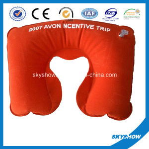 Inflatable Travel Neck Pillow with Printing pictures & photos
