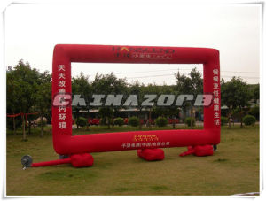 Good Shape Red Color Inflatable Frame for Advertising