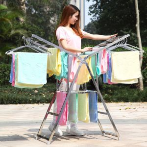 Stainless Steel Butterfly Shape Clothes Shelf