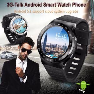 S99A Mtk6580 3G Smart Watch with 8GB ROM 5.0 MP Camera GPS WiFi Pedometer Heart Rate pictures & photos