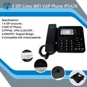 China 4-Line WiFi IP Phone/SIP Phone IP542n - China Voip
