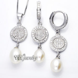 Elegance 925 Silver Pearl Jewellery with CZ (YS-1414) pictures & photos