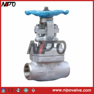 Thread and Socket Welded Forged Steel Globe Valve pictures & photos