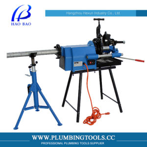 Electric Pipe Threading Machine with H-402 Pipe Support (HT-50F)
