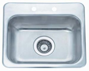 China Topmount Inset Countertop Sink Stainless Steel Utility