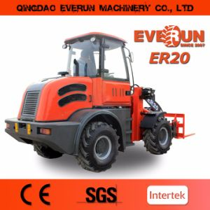 Everun 2017 New Ce Approved 2.0 Ton Small Construction Loader with Pallet Forks pictures & photos