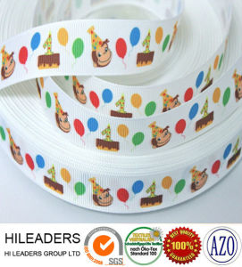Hgr421 Printed Cartoon Grosgrain Ribbon for Decoration