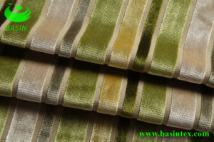 Furniture Stripe Velvet Sofa Fabric (BS4007) pictures & photos